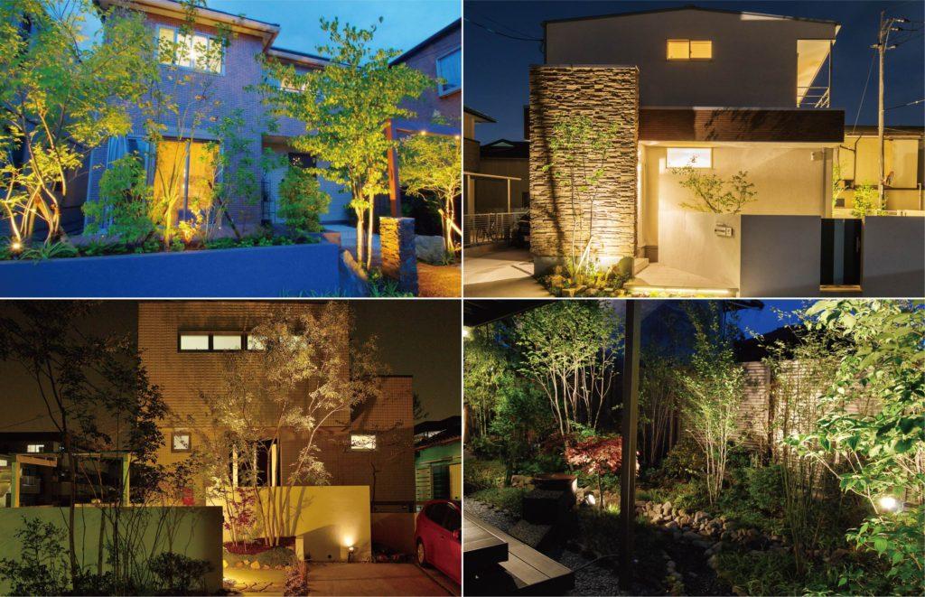 住宅によって様々に異なる樹木の比較