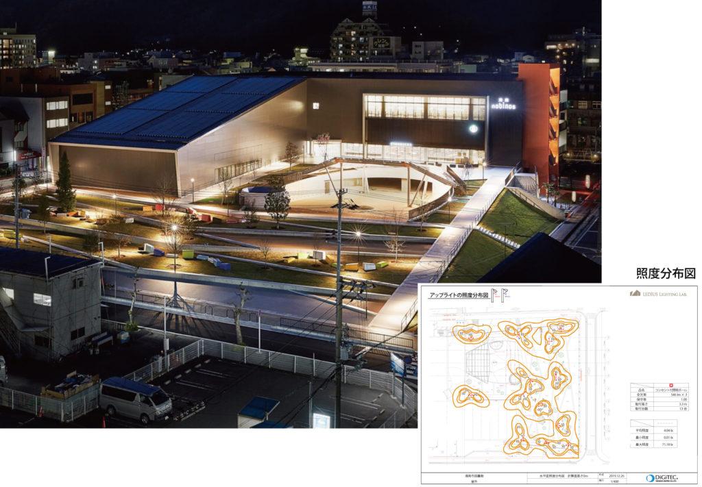 海南nobinosの照明計画のための照度分布図