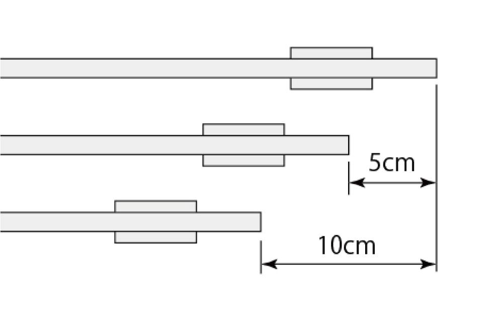 ラインウォールライトの長さ別注対応の単位を表す画像