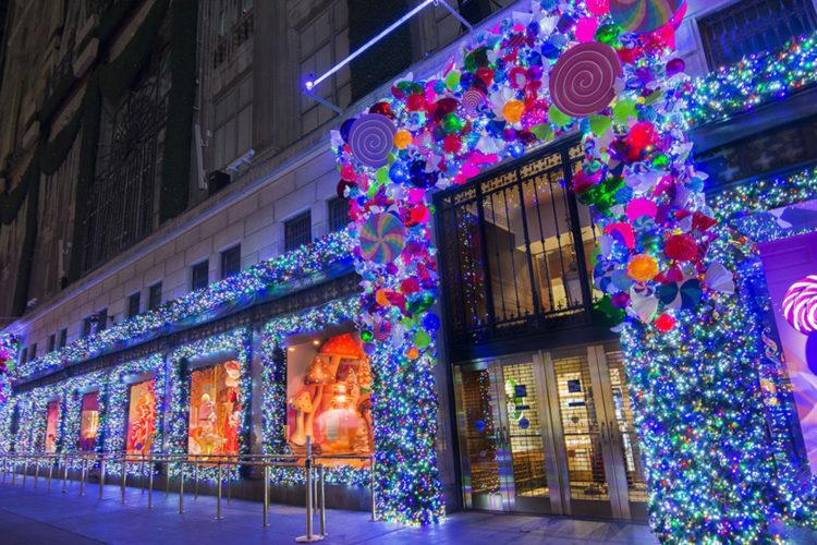 <ポップでカラフルな心躍るデザイン>アメリカ・ニューヨークのクリスマス