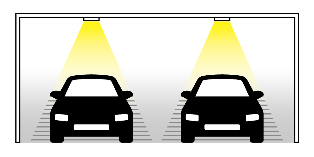 ダウンライトを駐車場に設置する際の良くない例