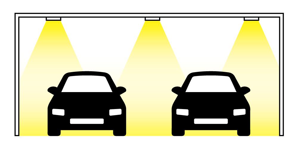 ダウンライトを駐車場に設置する際の良い例