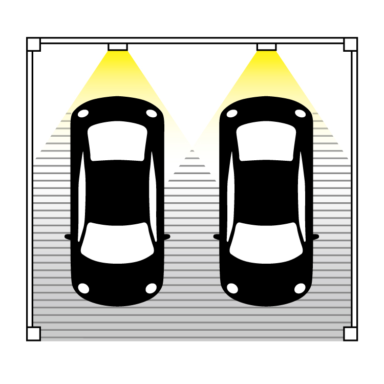 ポールライトやウォールライトを駐車場に設置する際の良くない例