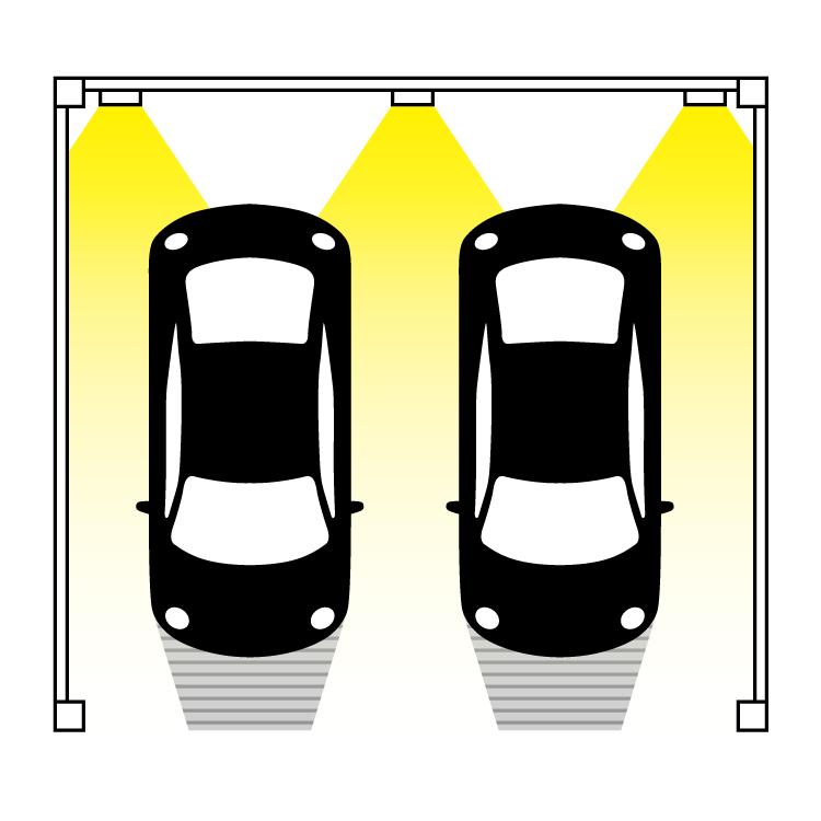 ポールライトやウォールライトを駐車場に設置する際の良い例