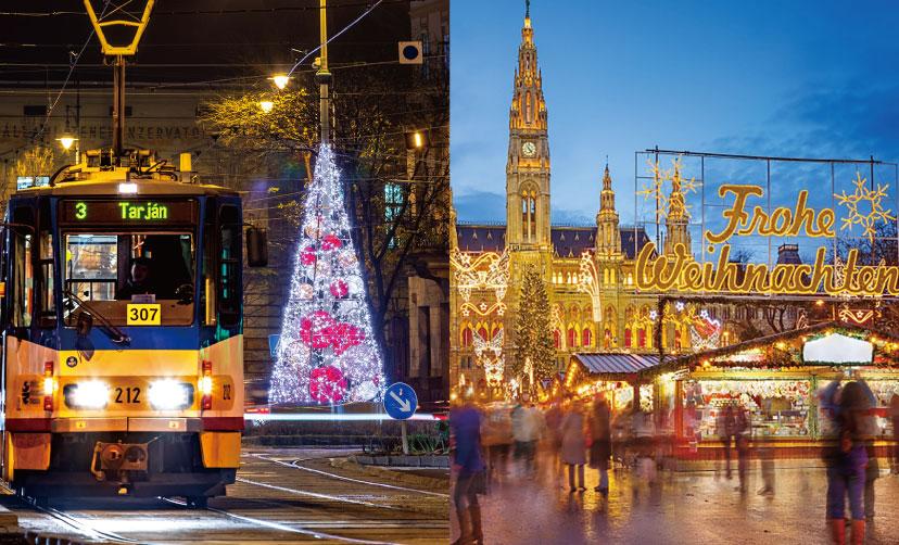 街を彩るMK Illuminationの装飾の写真