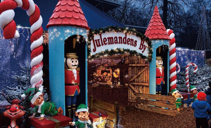デンマークのオーフスにある遊園地チボリフリーデンの外の様子