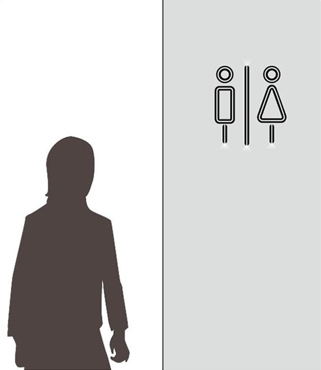 商業施設のピクトサインにLEDIUS SIGN SLITを使用した例