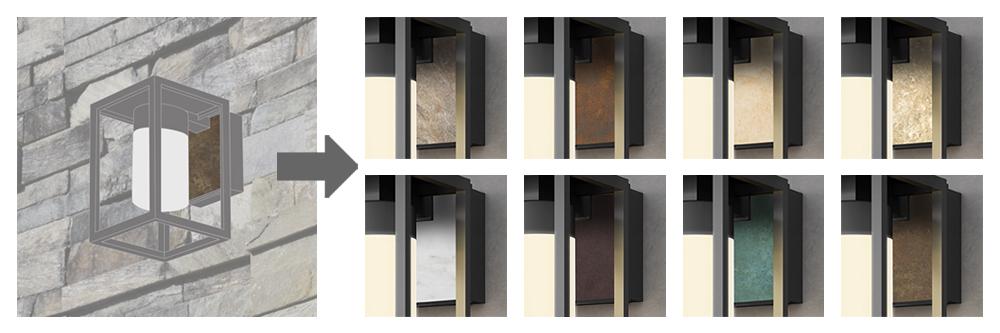 モダンクラシックシリーズのカラー変更できる部分とカラーバリエーションのイメージ写真