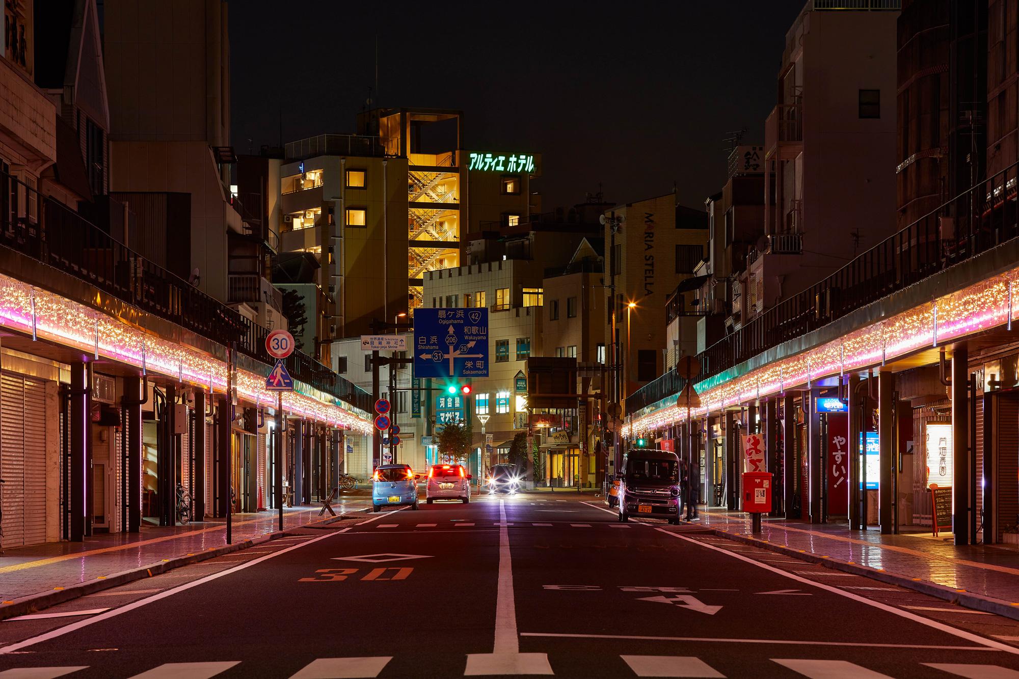 田辺市商店街のイルミネーションの写真