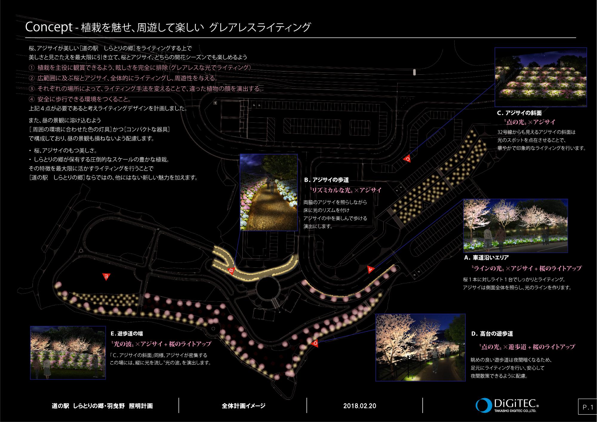 照明計画の全体図