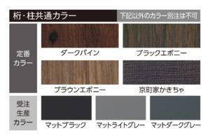 ライティングフェイスサインの選べる建材カラーの図