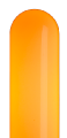 オレンジのネオンサイン、ネオン看板の発光色のイメージ画像