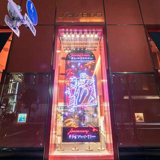資生堂パーラー ウインドウサインのネオンサイン、ネオン看板の画像