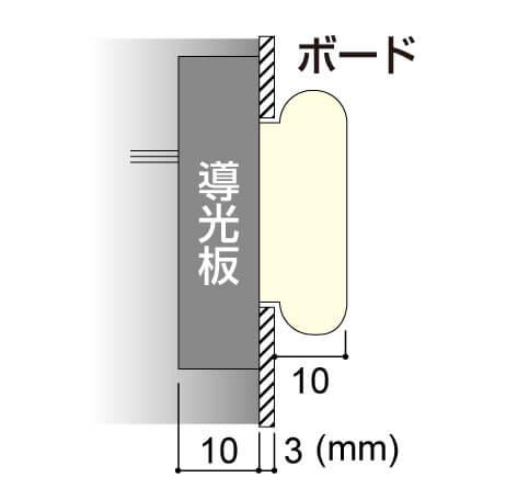 LEDサイン、LED看板のLEDIUS SIGN BOARD NEON クリアの寸法図