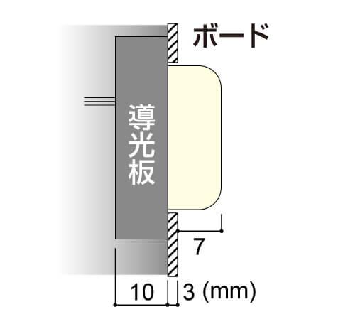 LEDサイン、LED看板のLEDIUS SIGN BOARD POP クリアの寸法図