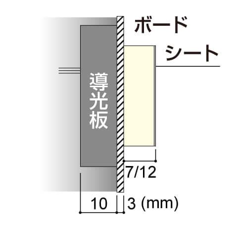 LEDサイン、LED看板のLEDIUS SIGN BOARD SIDEの寸法図