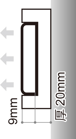 LEDサイン、LED看板のLEDIUS SIGN NEO ICEの寸法図