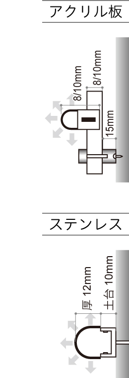 LEDサイン、LED看板のLEDIUS SIGN NEO TUBE ソフトの寸法図