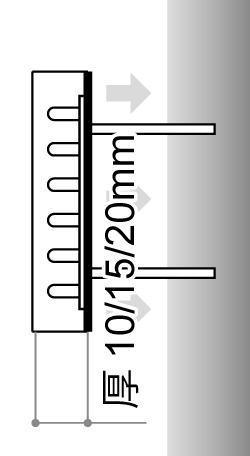 LEDサイン、LED看板のLEDIUS SIGN PRO BACKの寸法図