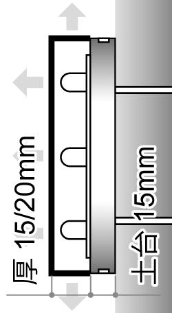 LEDサイン、LED看板のLEDIUS SIGN PRO DIAの寸法図