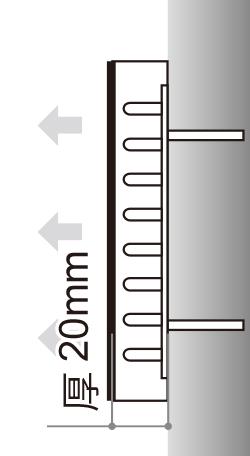LEDサイン、LED看板のLEDIUS SIGN PRO FRONTの寸法図