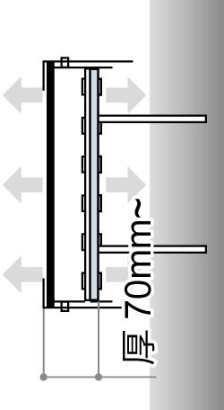 LEDサイン、LED看板のLEDIUS SIGN PRO FRONT BACK CHANNELの寸法図