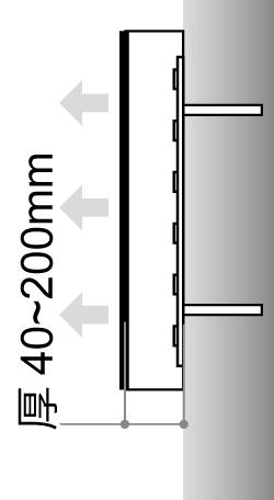 LEDサイン、LED看板のLEDIUS SIGN PRO FRONT CHANNELの寸法図