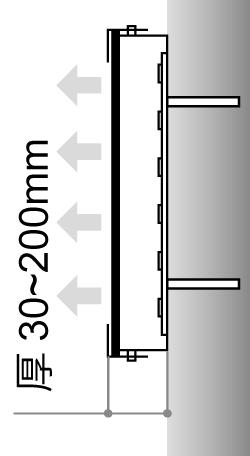 LEDサイン、LED看板のLEDIUS SIGN PRO FRONNT FRAME CHANNELの寸法図