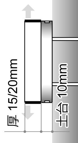LEDサイン、LED看板のLEDIUS SIGN PRO SIDE2の寸法図