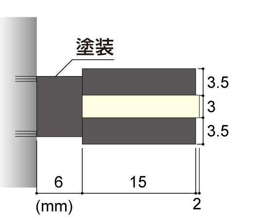 LEDサイン、LED看板のLEDIUS SIGN SLITの寸法図