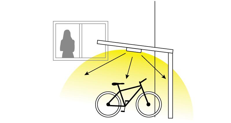 200lm を超える明るさ、2台分のカーポートもこれ1台で