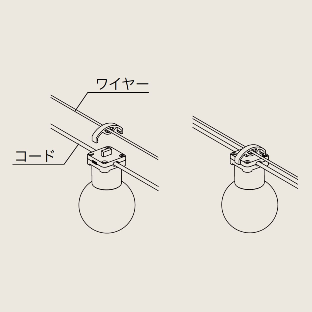 ガーランドライト用ワイヤー(10m)