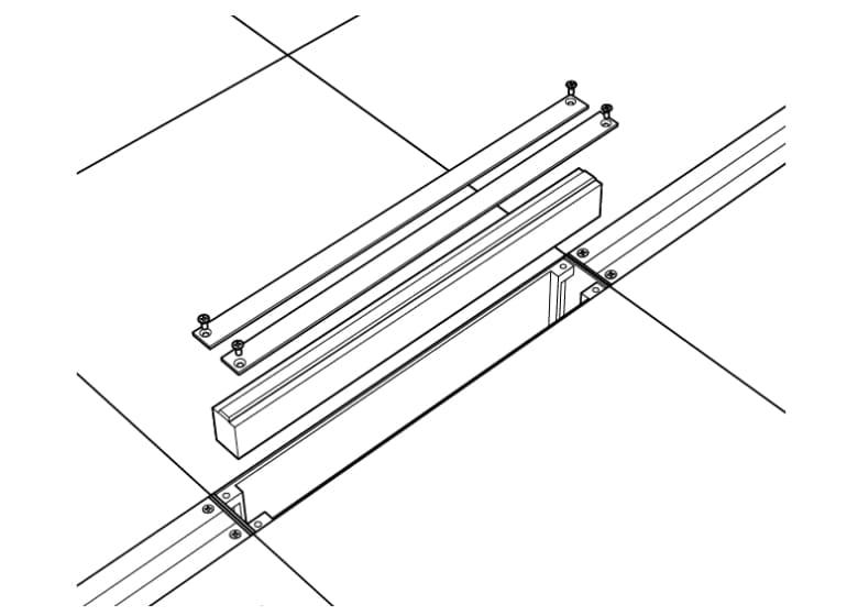 300タイプ:タイルの一辺と同寸法