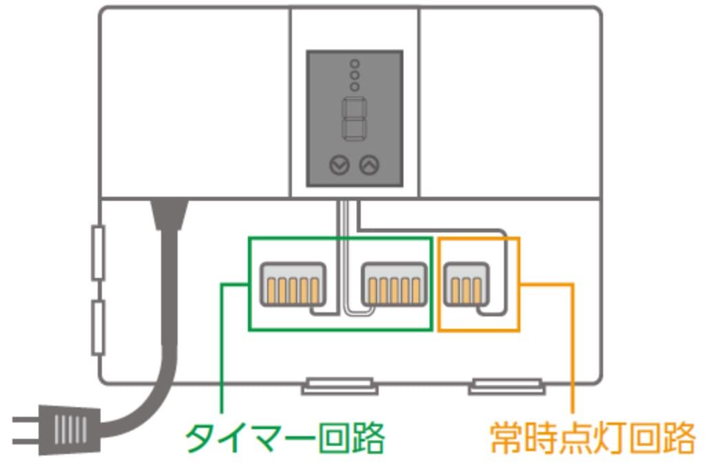 タイマー回路 常時点灯回路