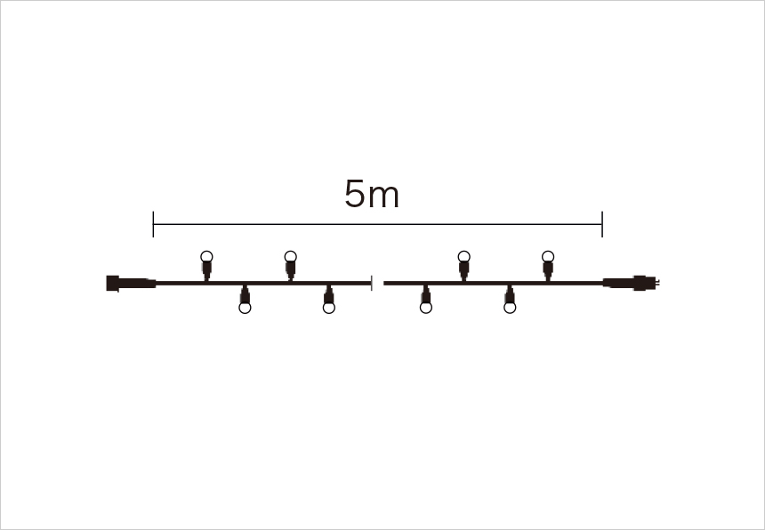 Bulb String Lite 10 - 5m